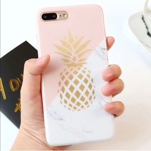 NEW iPhone 6 Plus/6s Plus Marble Pineapple Case